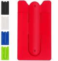 SILICONE MOBILE PHONE HOLDER WITH CARD HOLDER, STICKER
