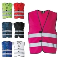 HIGH VISIBILITY SAFETY VEST - 100% POLYESTER, BIG SIZES