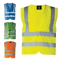 HIGH VISIBILITY SAFETY VEST WITH FOUR STRIPES ISO 20471