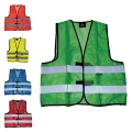 HIGH VISIBILITY SUMMER VEST MESH - 100% POLYESTER