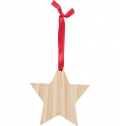 WOODEN CHRISTMAS ORNAMENT STAR