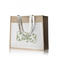 JUTE BAG WITH 100% COTTON FRONT POCKET