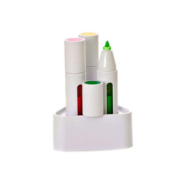 3 HIGHLIGHTERS IN HOLDER