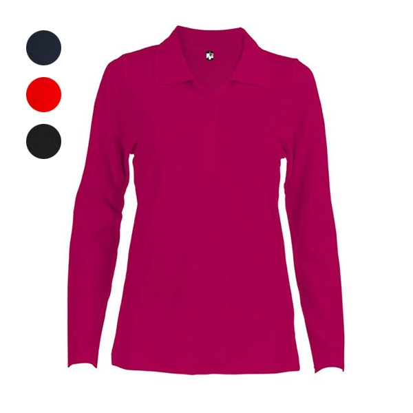 BERN WOMEN. WOMENS LONG SLEEVE POLO SHIRT