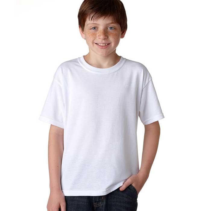 T SHIRT CRIANÇA GOLA REDONDA 150G BRANCO T shirts CrianÇa